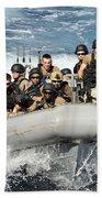 Sailors Conduct Maneuvers Beach Towel
