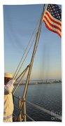 Sailors Salute The National Ensign Beach Towel