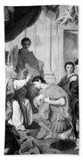 Saint Ambrose (339-397) Beach Towel