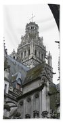 Saint Gatien's Cathedral Steeple Beach Towel