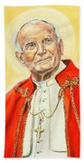 Saint John Paul II Beach Towel