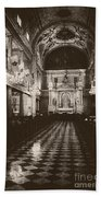 Saint Louis Cathedral New Orleans Black And White Beach Towel