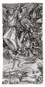 Saint Michael And The Dragon Beach Towel