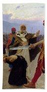 Saint Nicholas Of Myra Saves Three Innocents From Death Beach Towel