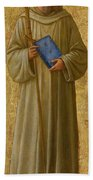 Saint Romuald Beach Towel by Fra Angelico