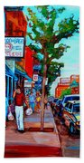 Saint Viateur Bagel Shop Beach Towel