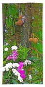 Sala Tree And Orchids At Buddhist University In Chiang Mai-thail Beach Towel