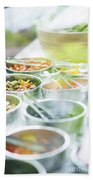 Salad Bowls With Mixed Fresh Vegetables Beach Towel