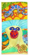 Salamander And Friends Beach Towel
