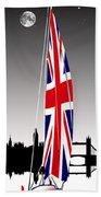 Sail On Brittania Beach Towel