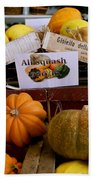 San Joaquin Valley Squash Display Beach Towel