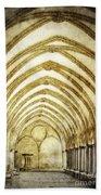 Salisbury Cathedral Cloisters 2 Beach Towel