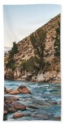 Salmon River In The Twilight Beach Towel