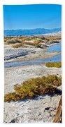 Salt Creek Trail Boardwalk In Death Valley National Park-california  Beach Towel