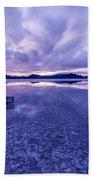 Salt Flats After Dark Beach Towel