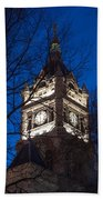 Salt Lake City And County Building At Night Beach Towel