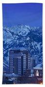 Salt Lake City Skyline Beach Towel