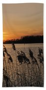 Salt Marsh Sunset Beach Towel