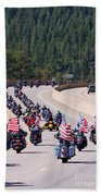 Salute To Veterans Rally Beach Towel