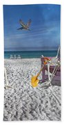 Sam And His Friend Visit Long Boat Key Beach Towel