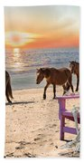 Sam Watches Over The Harem  Beach Towel by Betsy Knapp