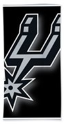 San Antonio Spurs Beach Towel by Tony Rubino