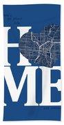 San Antonio Street Map Home Heart - San Antonio Texas Road Map I Beach Towel