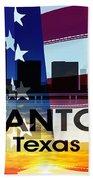 San Antonio Tx Patriotic Large Cityscape Beach Towel