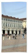 San Carlo Square In Turin Beach Towel