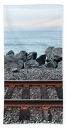 San Clemente Coast Railroad Beach Towel