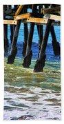 San Clemente Pier Beach Towel by Mariola Bitner