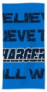 San Diego Chargers I Believe Beach Towel