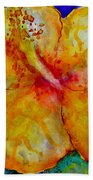 San Diego Hibiscus Study IIi Upward Facing  Beach Towel