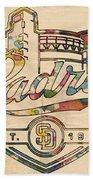 San Diego Padres Memorabilia Beach Towel