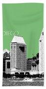 San Diego Skyline 2 - Apple Beach Towel