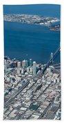 San Francisco Bay Bridge Aerial Photograph Beach Towel