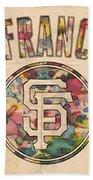 San Francisco Giants Logo Vintage Beach Towel