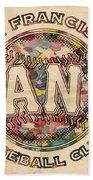 San Francisco Giants Poster Vintage Beach Towel