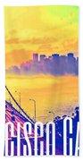 San Francisco Postcard Beach Towel