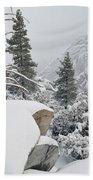 San Jacinto Winter Wilderness Beach Towel