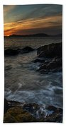 San Juans Sunset Mood Beach Towel