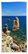 San Pietro Island - Le Colonne Cliff Beach Towel