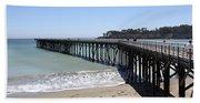 San Simeon Pier  Beach Towel