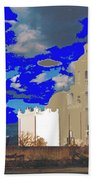 San Xavier Mission Brooding Clouds Post Card Ray Manley  Photo No Date-2013  Beach Towel