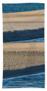 Sand And Water Textures Abstract Beach Towel