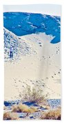 Sand Dune Bordering Salt Creek Trail In Death Valley National Park-california Beach Towel