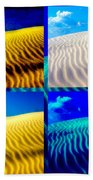 Sand Dunes Collage Beach Towel