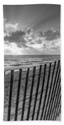 Sand Dunes In Black And White Beach Towel