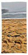 Sand On The Beach Beach Towel