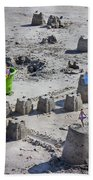 Sandcastle Squatters Beach Towel by Betsy Knapp
